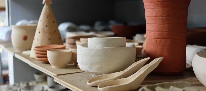 大仙窯にて作製された陶芸作品