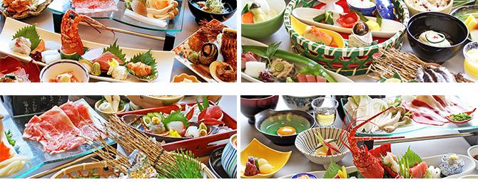 大仙家の会席料理で選ぶ宿泊プランの料理イメージ