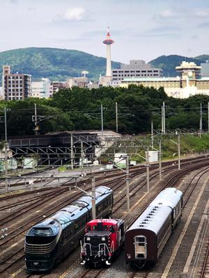 京都鉄道博物館に「瑞風」現る
