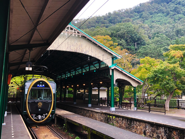 八瀬比叡山口駅の紅葉