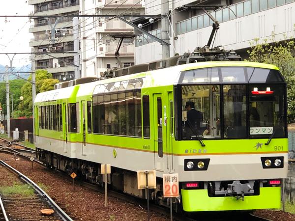 叡山電車の青もみじ列車