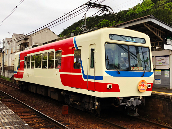 三陸鉄道カラーの叡山電車