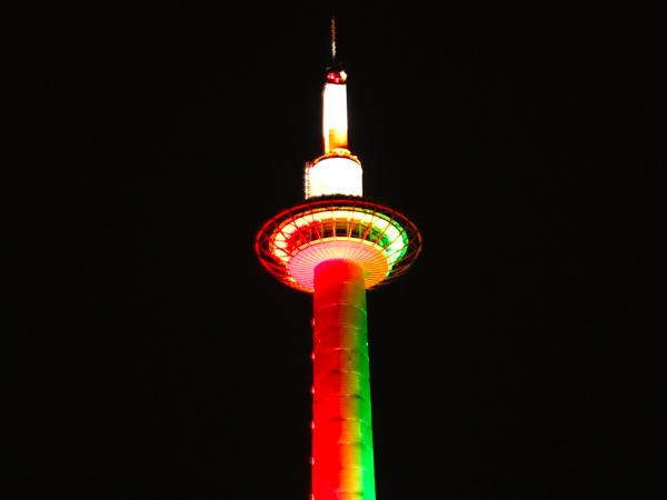 京都タワーもクリスマス仕様に…