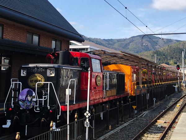 3月 嵯峨野トロッコ列車、出発!