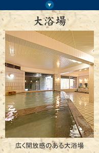 ホテル平安の森京都のお風呂 珍しい備長炭入りの大浴場