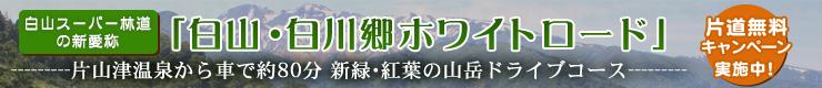 白山白川郷ホワイトロード 片道無料キャンペーン実施中