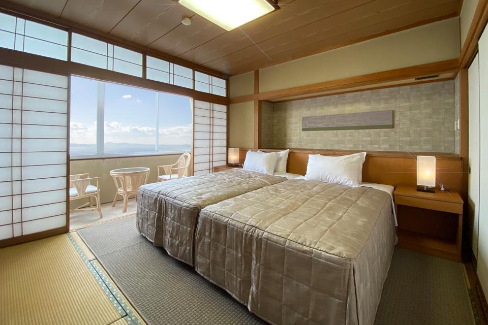 三河湾ヒルズの客室「和ベッド」
