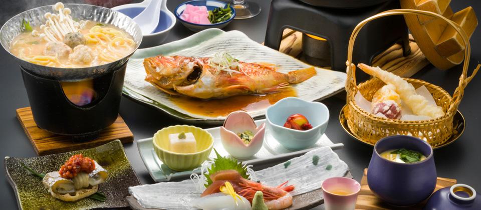 三河湾ヒルズ・ホテルの会席料理イメージ