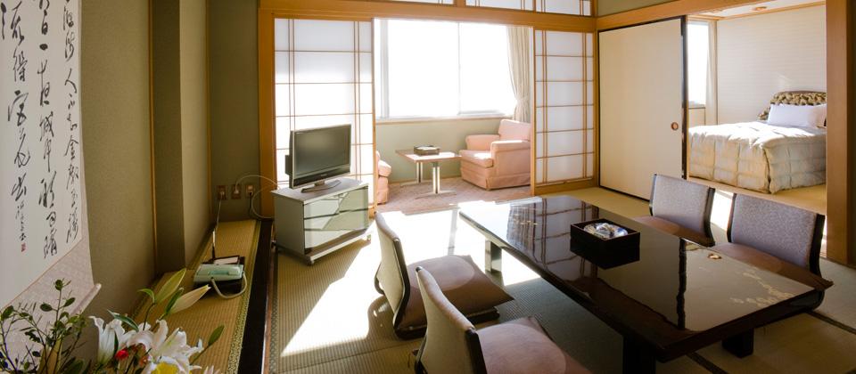 三河湾ヒルズ・ホテルの特別室 和室+ツイン