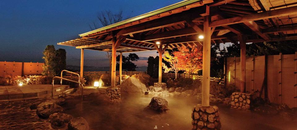 三河湾ヒルズ・ホテルの露天風呂「あじさいの湯(天然温泉)」